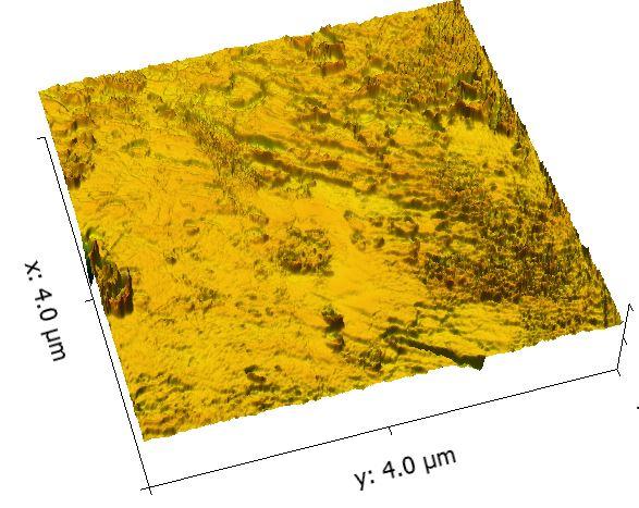 4 x 4 um aluminum-gold